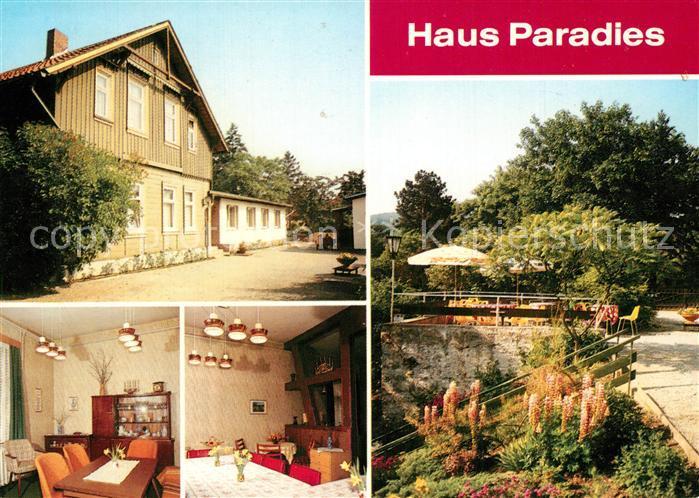 AK / Ansichtskarte Wernigerode_Harz Erholungsheim Haus Paradies des Diakonissenhauses Friedenshort Heiligengrabe Wernigerode Harz