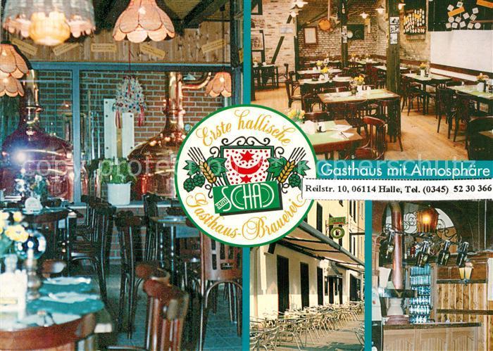AK / Ansichtskarte Halle_Saale Gasthaus Brauerei Zum Schad Halle_Saale