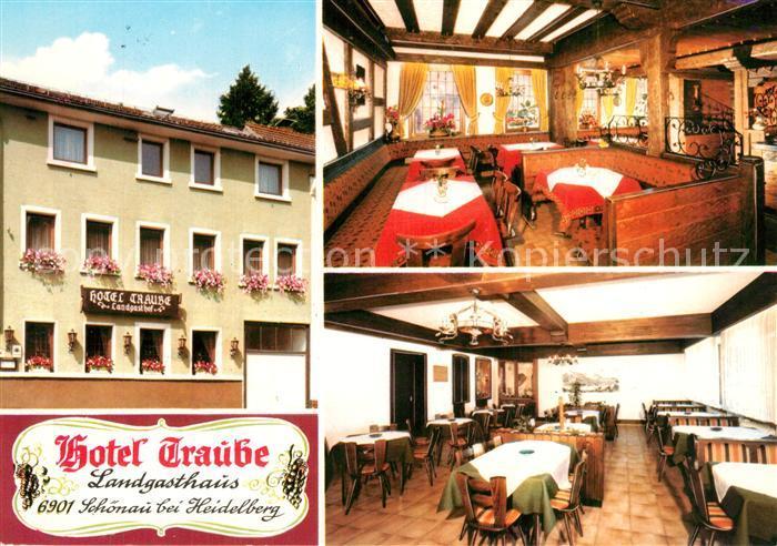AK / Ansichtskarte Schoenau_Muehlkreis Hotel Traube Landgasthaus Gastraeume Schoenau Muehlkreis