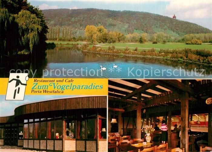 Ak Ansichtskarte Portawestfalica Restaurant Zum Vogelparadies