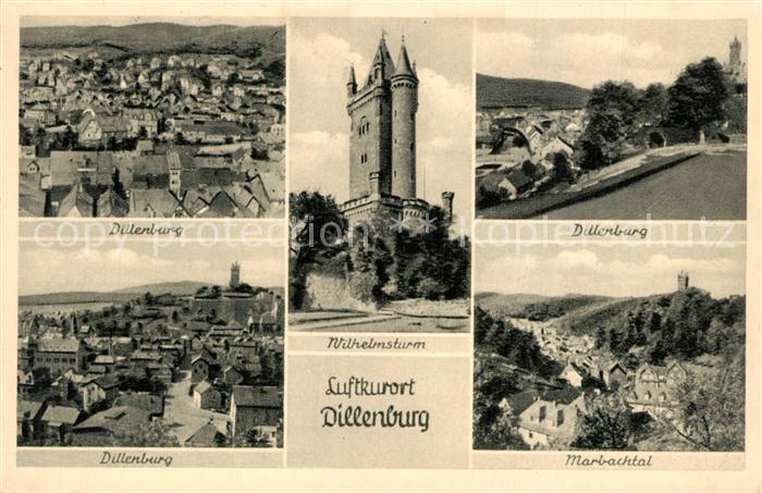 AK / Ansichtskarte Dillenburg Panorama Wilhelmsburg Marbachtal Dillenburg