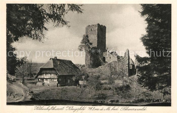 AK / Ansichtskarte Koenigsfeld_Schwarzwald Burg Ruine Waldau Koenigsfeld Schwarzwald
