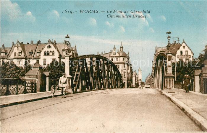AK / Ansichtskarte Worms_Rhein Chrimhilden Bruecke Worms Rhein