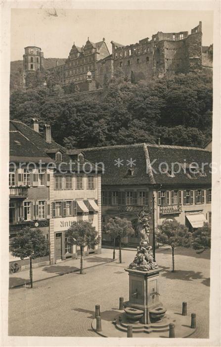 AK / Ansichtskarte Heidelberg_Neckar Kornmarkt Schloss Heidelberg Neckar