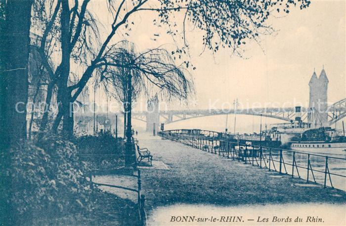 AK / Ansichtskarte Bonn_Rhein Uferpromenade Bonn_Rhein
