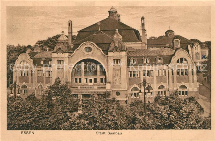AK / Ansichtskarte Essen_Ruhr Staedtischer Saalbau Essen_Ruhr