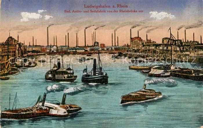 AK / Ansichtskarte Ludwigshafen_Rhein BASF Hafen Ludwigshafen Rhein