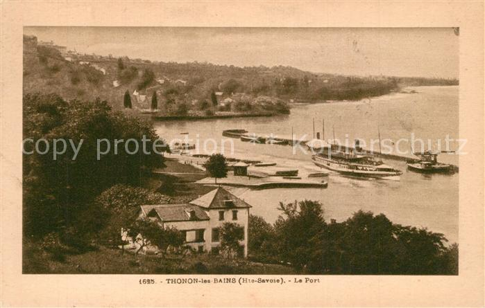 AK / Ansichtskarte Thonon les Bains Port Thonon les Bains