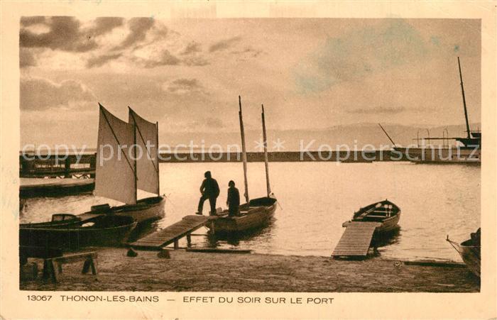 AK / Ansichtskarte Thonon les Bains Effet du soir sur le port Thonon les Bains
