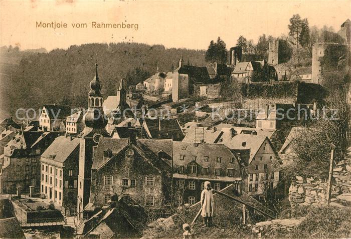 AK / Ansichtskarte Montjoie_Monschau Blick vom Rahmenberg Montjoie Monschau