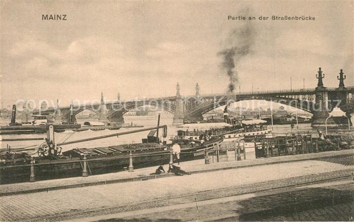 AK / Ansichtskarte Mainz_Rhein Strassenbruecke Panorama Mainz Rhein