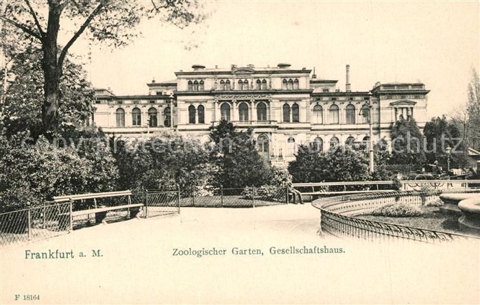 AK / Ansichtskarte Frankfurt_Main Zoologischer Garten Gesellschaftshaus Frankfurt Main