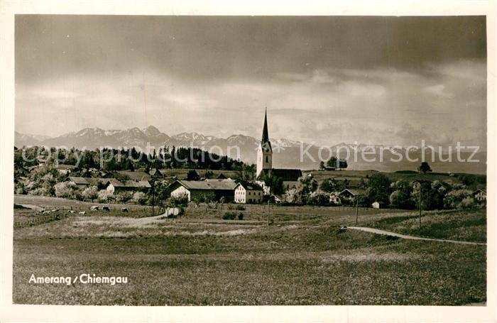 AK / Ansichtskarte Amerang Kirche Panorama Amerang