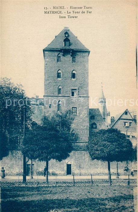AK / Ansichtskarte Mainz_Rhein Eiserner Turm Mainz Rhein
