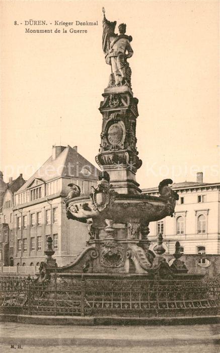 AK / Ansichtskarte Dueren_Rheinland Kriegerdenkmal Dueren_Rheinland
