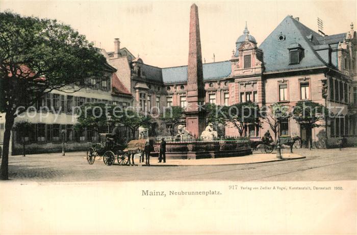 AK / Ansichtskarte Mainz_Rhein Neubrunnenplatz Mainz Rhein
