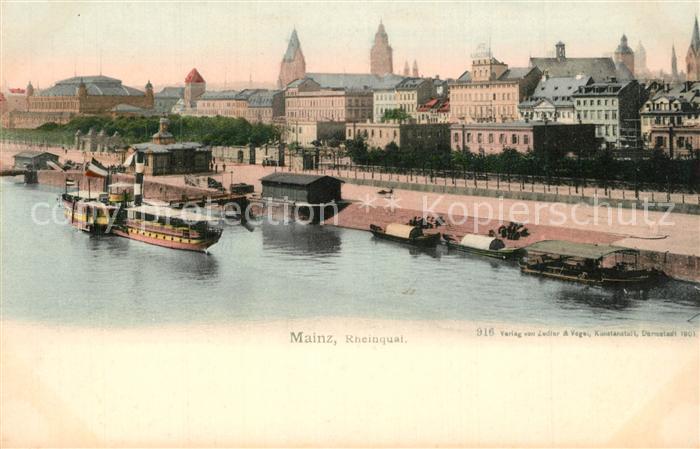 AK / Ansichtskarte Mainz_Rhein Rheinquai Mainz Rhein