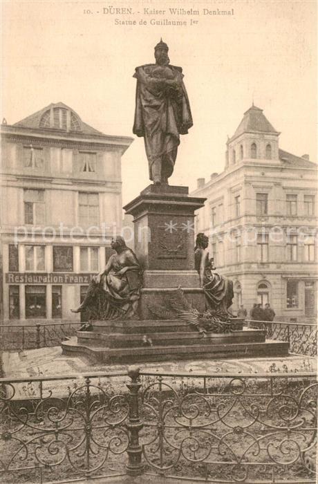 AK / Ansichtskarte Dueren_Rheinland Kaiser Wilhelm Denkmal Dueren_Rheinland