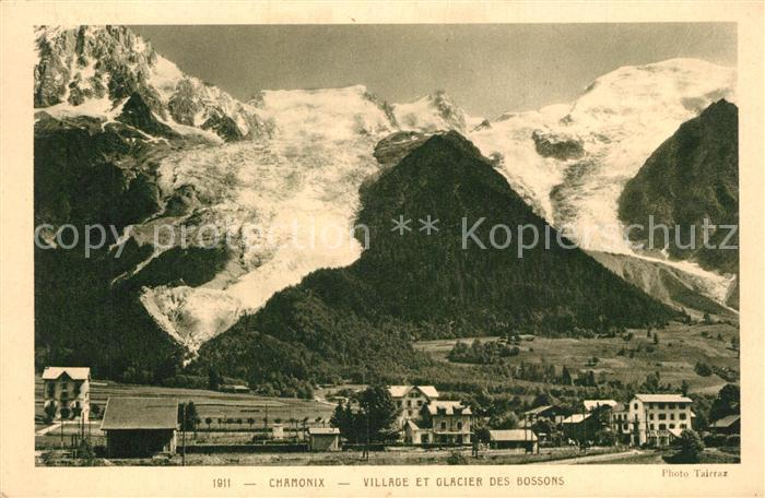 AK / Ansichtskarte Chamonix Village Glacier des Bossons Chamonix