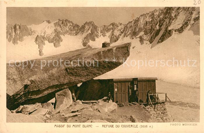 AK / Ansichtskarte Mont_Blanc Refuge du Couvercle Mont_Blanc