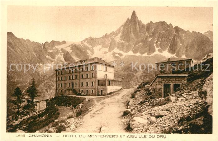 AK / Ansichtskarte Chamonix Hotel du Montenvers Aiiguielle du Dru Chamonix