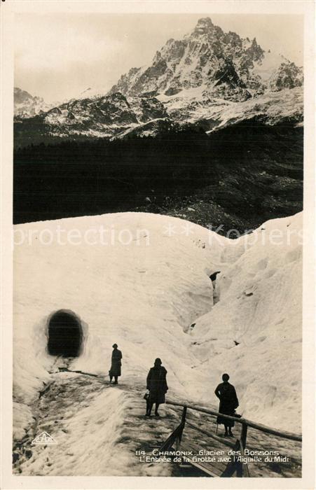 AK / Ansichtskarte Chamonix Glacier des Bossons Chamonix