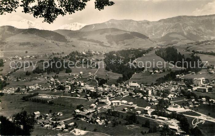 AK / Ansichtskarte Megeve Panorama Mont Blanc Megeve