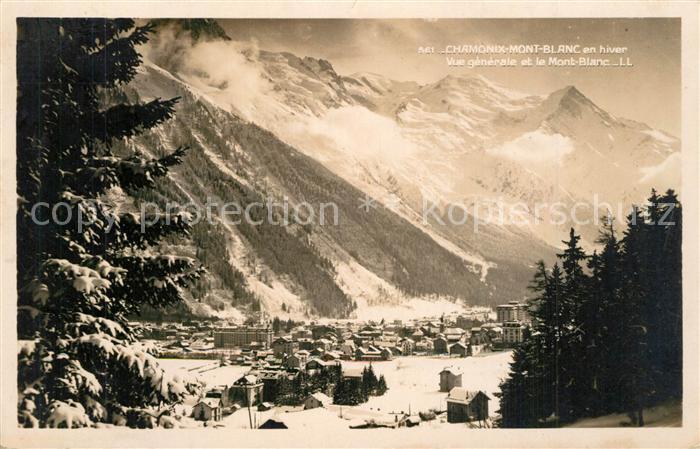 AK / Ansichtskarte Chamonix Mont Blanc Winter Chamonix