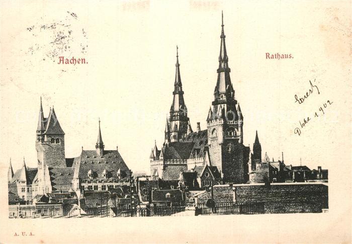 AK / Ansichtskarte Aachen Rathaus Aachen