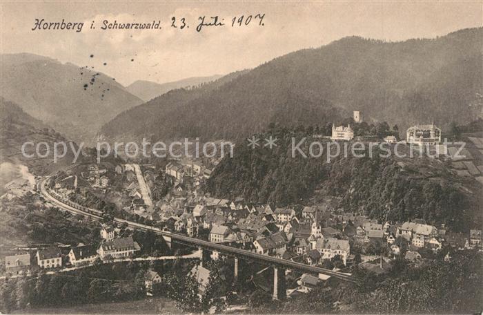AK / Ansichtskarte Hornberg_Schwarzwald Panorama Hornberg Schwarzwald