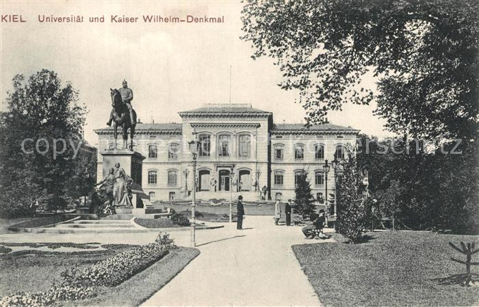 AK / Ansichtskarte Kiel Universitaet Kaiser Wilhelm Denkmal Kiel