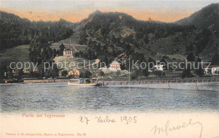 AK / Ansichtskarte Tegernsee Panorama Tegernsee