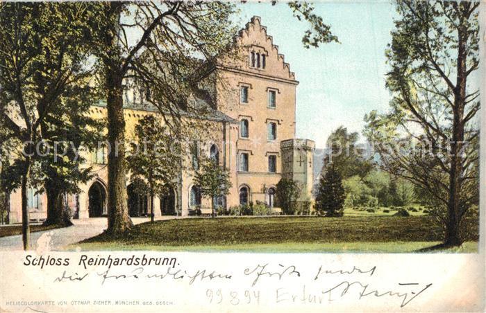 AK / Ansichtskarte Reinhardsbrunn Schloss Reinhardsbrunn