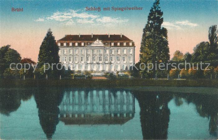 AK / Ansichtskarte Bruehl_Baden Schloss Spiegelweiher Bruehl_Baden