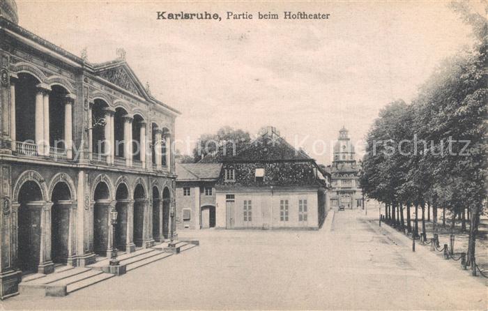 AK / Ansichtskarte Karlsruhe_Baden Hoftheater Karlsruhe_Baden