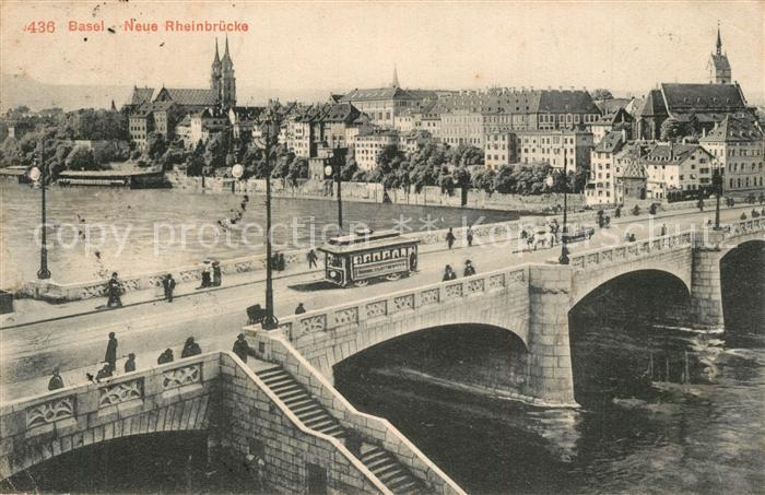 AK / Ansichtskarte Basel_BS Neue Rheinbruecke Basel_BS