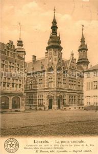 AK / Ansichtskarte Louvain_Flandre La poste centrale Louvain_Flandre