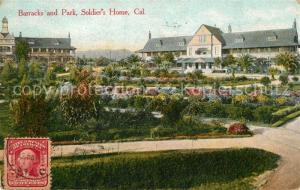 AK / Ansichtskarte Los_Angeles_California Barracks and Park Soldiers Home