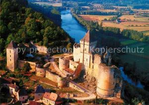 AK / Ansichtskarte Castelnaud la Chapelle Le Chateau la vallee de la Dordogne Vue aerienne Castelnaud la Chapelle