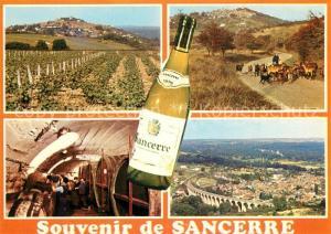 AK / Ansichtskarte Sancerre Vue generale une cave paysage d'automne a Sancerre le viaduc de Saint Satur Sancerre