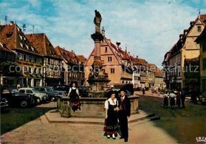 AK / Ansichtskarte Obernai_Bas_Rhin La place du Marche Obernai_Bas_Rhin