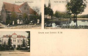AK / Ansichtskarte Guscht_Goszczanowo Kaufhaus Paul Kleinadel Seepartie Postamt