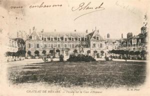 AK / Ansichtskarte Menars Chateau Facade sur la Cour d Honneur Schloss Menars