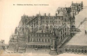AK / Ansichtskarte Gaillon Chateau vue a vol d oiseau Schloss Kuenstlerkarte Gaillon
