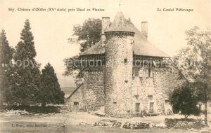 AK / Ansichtskarte Ussel_Cantal Chateau d Oeillet XVe siecle Schloss Ussel Cantal