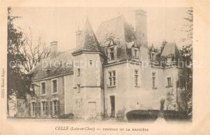 AK / Ansichtskarte Celle_Loir et Cher Chateau de la Massuere Schloss Celle_Loir et Cher