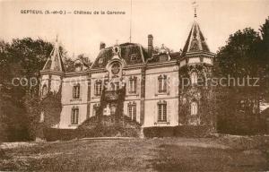 AK / Ansichtskarte Septeuil Chateau de la Garenne Schloss Septeuil