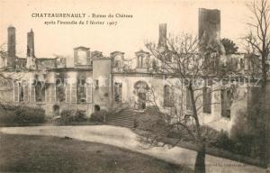 AK / Ansichtskarte Chateau Renault Ruines du Chateau Schloss Chateau Renault