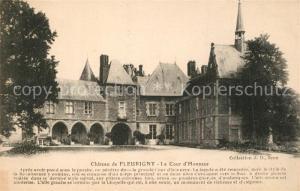 AK / Ansichtskarte Thorigny sur Oreuse Chateau de Fleurigny Cour d Honneur Schloss Thorigny sur Oreuse