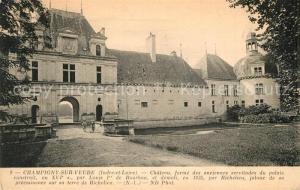AK / Ansichtskarte Champigny sur Veude Chateau Schloss Champigny sur Veude